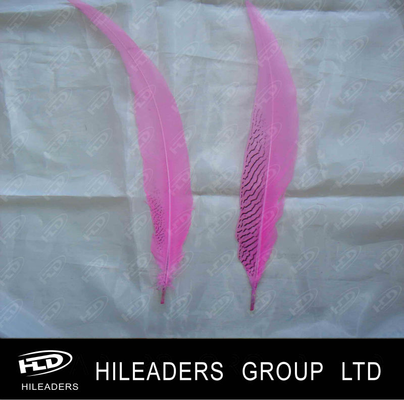 FH316 Dyed Purple Silver Pheasant Feather