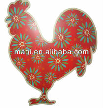 Decorative wall plaque hanging metal rooster