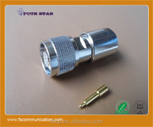 N Connector Male Clamp for LMR400 Cable C