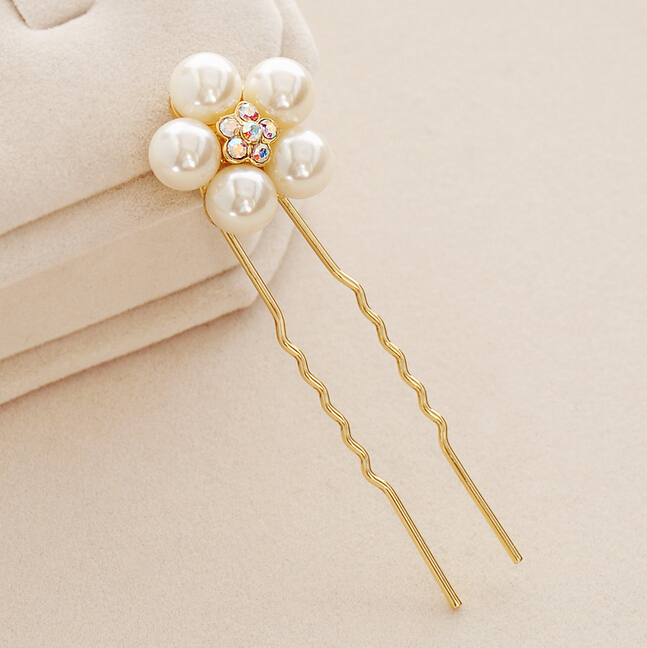 U shaped wedding pearl decorative hair pins for party or wedding