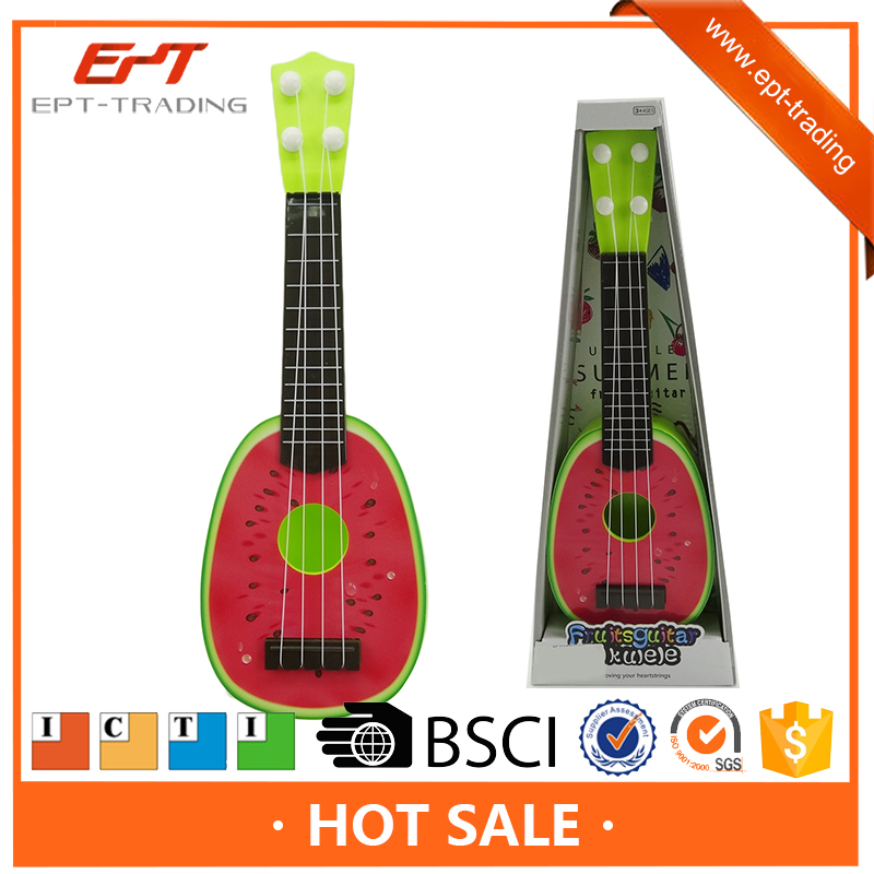 Kids musical instrument cute ukulele plastic fruit guitar toys