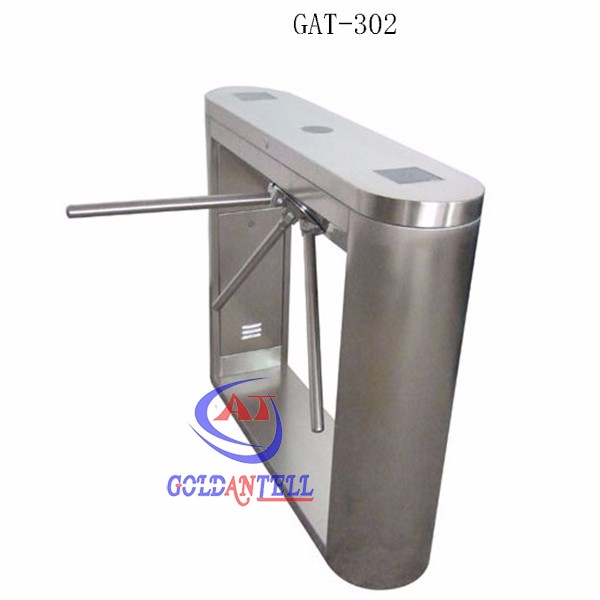 Access control tripod turnstile barrier gate with three drop arm