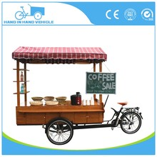 bicycle trailer mobile coffee fast food bike for factory direct sale