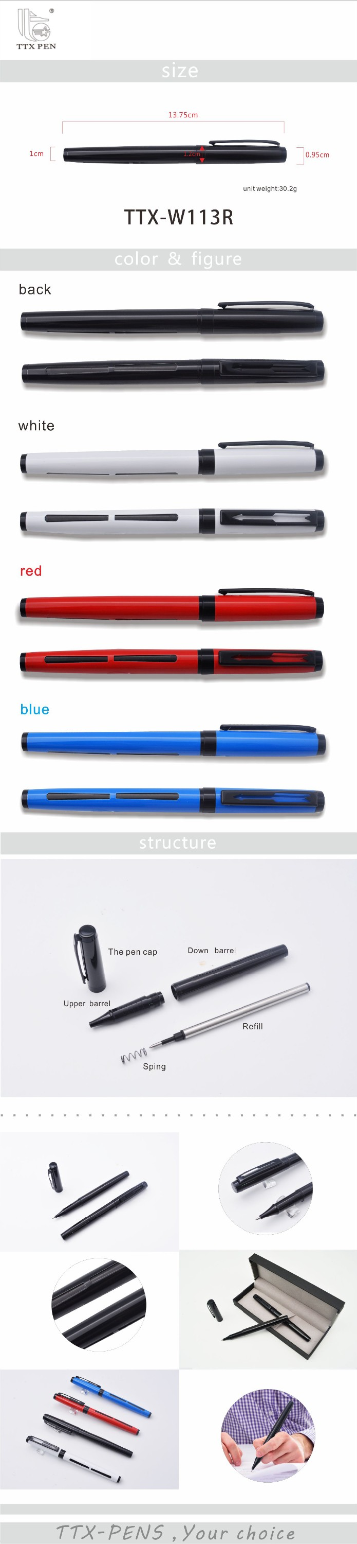 OEM eco friendly japanese rollerball pens 0.7