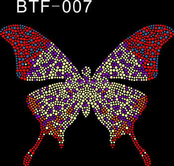 Hot Fix Rhinestone Strass Butterfly Heat Transfer Design