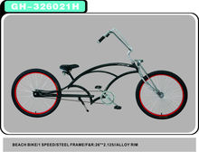 "BLACK MIX RED cheap chopper 24-26"" bicycle best price high quaililty"