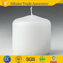 paraffin wax 2x2 inch Unscented white color Mini Button wedding Pillar Candle in bulk
