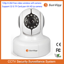 SunView 720p H.264 free video camera Support 32G TF Card pan tilt full HD ctv security system cheapest wifi ip 180 degree panora