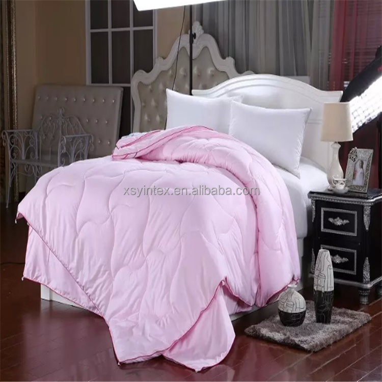 Luxury 1200 Thread Count Pink Color Queen Size White Goose Down Duvet Quilt Comforter Sets