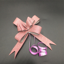 2000pcs per carton gift package glitter ribbon butterfly bow