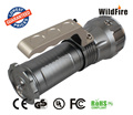 2000 lumens high power portable rechargeable and zoomable handy flashlight