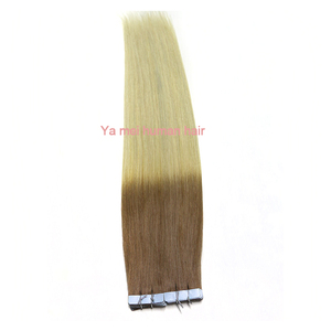 Wholesale 100% remy human hair double drawn russian hair tape hair extensions