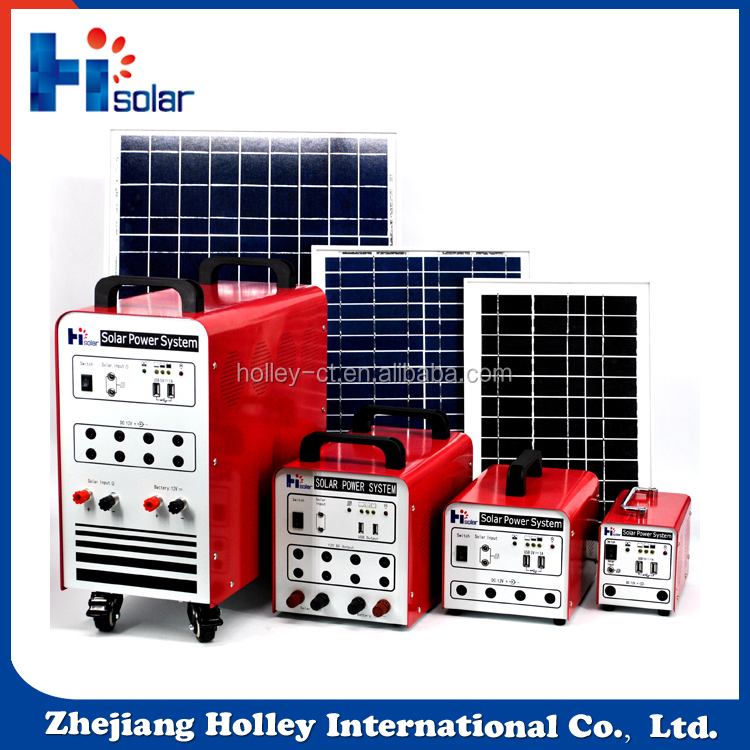 Complete indoor solar power system 18V/30W and 12V/20Ah solar power bank for home