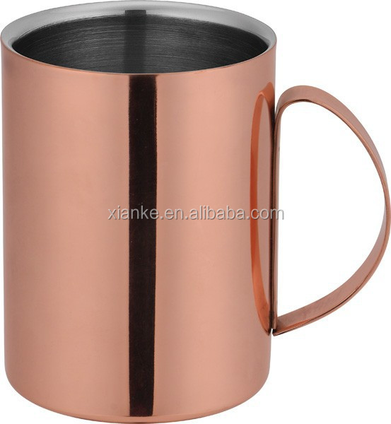 Good Quality Stainless steel drinking cup copper moscow mule wine cup