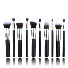 HOT251 New 10pcs Make up Brushes Black Makeup Brush Sets For Eye