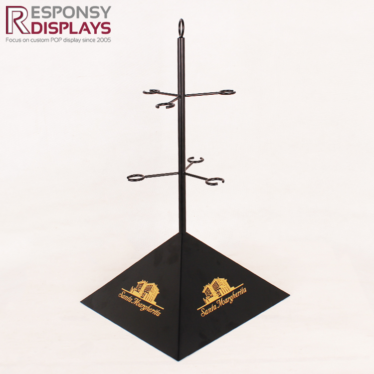 faction design custom metal wine glass display rack used in KTV and bar