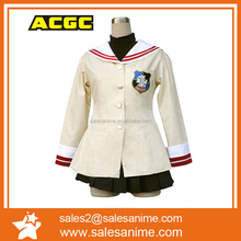 wholesale stock with cheapest Beautiful Clannad school uniform Cosplay Costume for halloween party