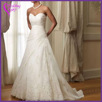 Factory Popular different types light blue and white wedding dress on sale