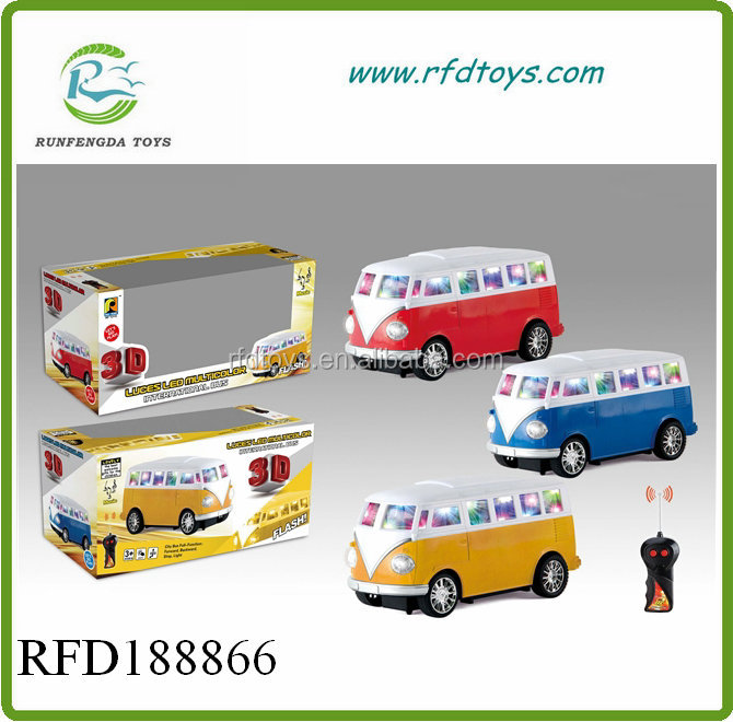 Radio remote control rc toy bus kids 3D rc bus