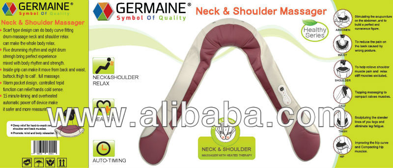 GERMAINE Neck & Shoulder Massager Heated Therapy GM-151