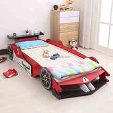 Modern design colorful wooden kids car bed