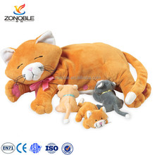 Plush baby toy stuffed animal cat nurturing soft toy pp cottton filled plush nursing cat