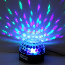 Remote Control MP3 Sound Activated Mini LED Crystal Magic Ball Stage Light