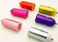 mini 5V 1000ma promotional colorful usb car charger for iphone / ipad / samsung