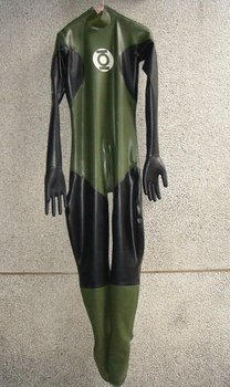 100% natrual latex full body catsuit attached gloves, feet