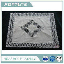 PVC PLASTIC LACE TABLE CLOTH PRINTED FILM FOR DINING TABLE OVERLAYS