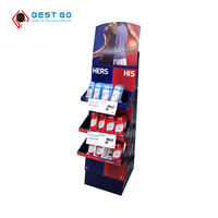 Supermarket store custom advertising cardboard candy display stands