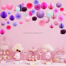 Birthday party hanging handmade paper decorations items for festival