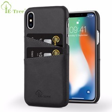 Wholsale Phone Case Cover For iPhone X PU Back Cover Leather Card Slots Mobile Phone Case For Apple iPhoneX