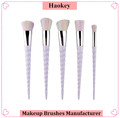 2017 Professional Hotsale 5PCS Diamond type OEM service unicorn shape makeup brush set