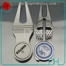Free Sample Golf Gifts Custom Divot Tool With Golf Ball Marker