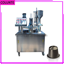automatic rotary coffee k cup making filling sealing machine price