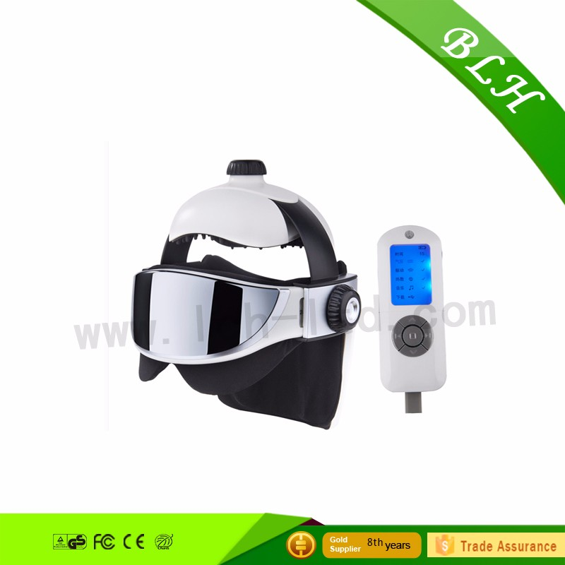 2016 low price musical head acupuncture heated eye head massager smart massager for health care