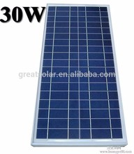 Nanjing Greatsolar Poly Solar Panels 30w, 12V small size solar PV modules portable solar energy system