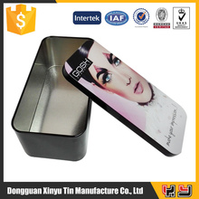 Recyclable Feature customized factory tin can/tin case/cosmetic tin box storage tin case