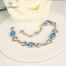Jewelry manufacturer Fine jewelry Natural gemstone topaz 925 silver bracelet for women