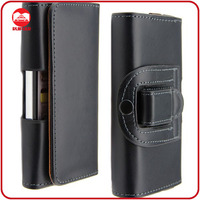 Luxury Horizontal Leather Leder Belt Clip Case for Samsung Galaxy S4