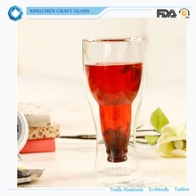 FDA SGS High Borosilicate glass beer cup bottoms up beer up
