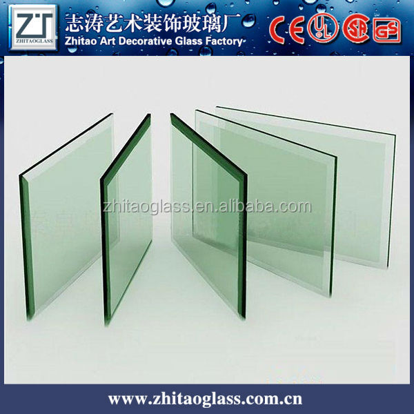 12mm thk clear tempered shatterproof glass, High safety factor