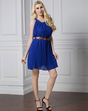 New Arrival Sexy Plus Size Pleated Dress For Ladies Allover Pleating Cocktail Dress