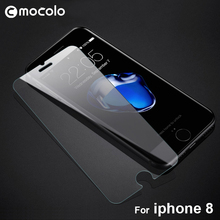 Mocolo New Product Crystal 9H Tempered Glass Transparent Anti Scratch Screen Protector for Iphone 8