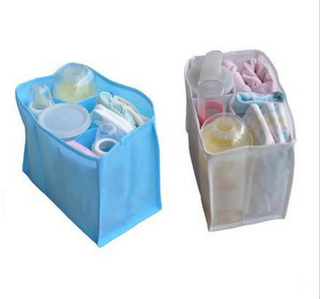 3 sizes Inner Storage Organizer for Mother Bag Travel Nappy Bag Diaper Bag