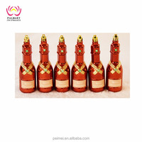 Factory whole sell 13CM Plastic beer bottles for xmas decoration ,christmas gift