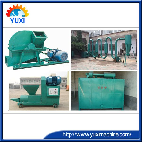 multifunctional wood charcoal production line/making wood charcoal production line for wattle