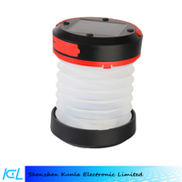 Solar Foldable Camping Lantern Collapsible USB Rechargeable Mini Telescopic Camping Lantern with USB Flashlight Torch