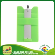Gift Multifunctional Smart wallet 3M Sticky Silicone Mobile Card Stand Holder